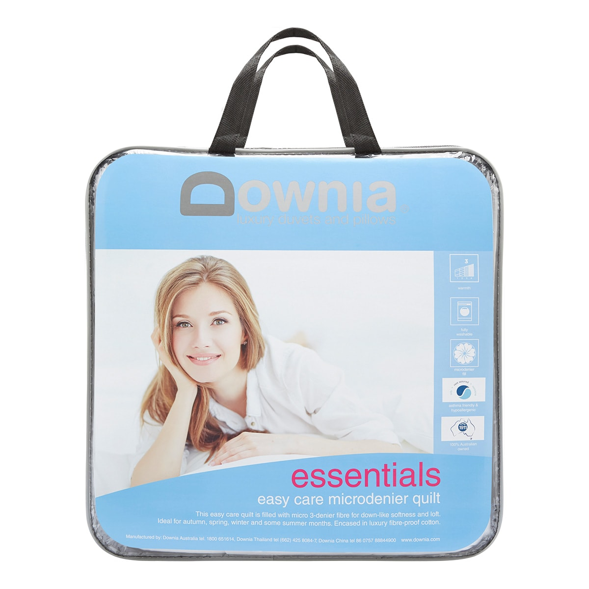 Downia ESSENTIALS COLLECTION 3 denier Duvet|Doona|Quilt KING|QUEEN|DOUBLE|SINGLE