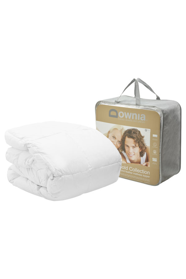 white goose down mattress topper