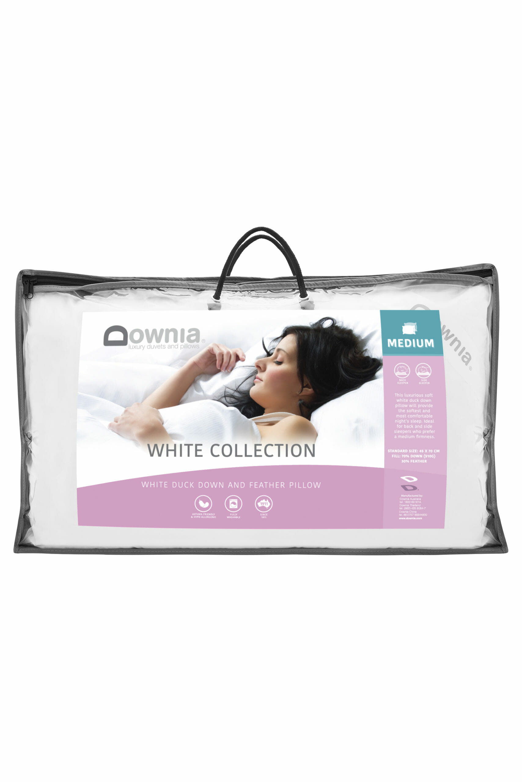 Downia WHITE COLLECTION White Duck Down Standard Size Pillow