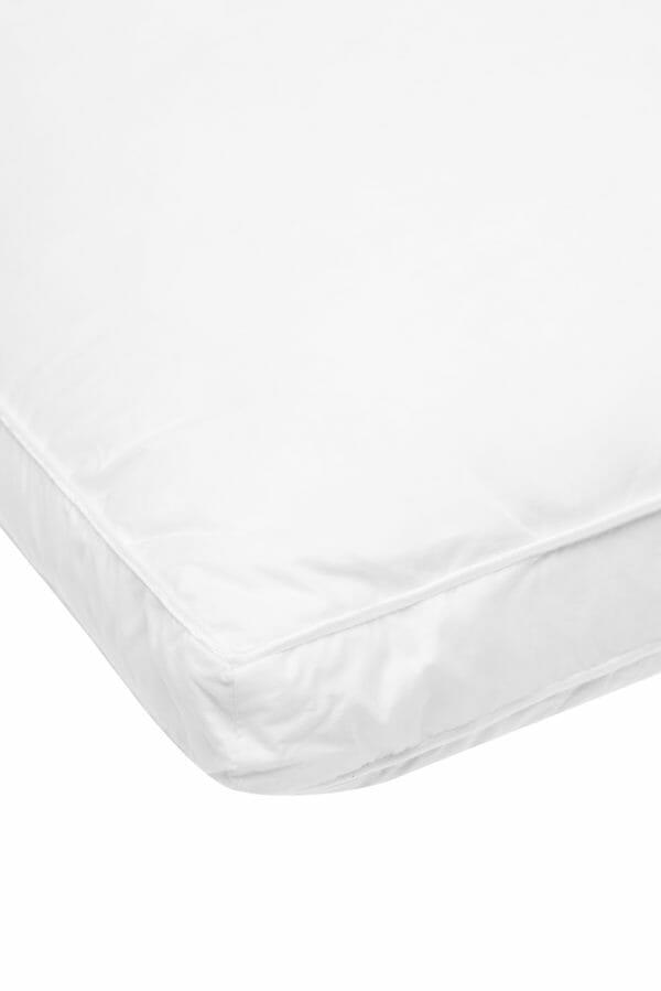 white goose down & feather pillow