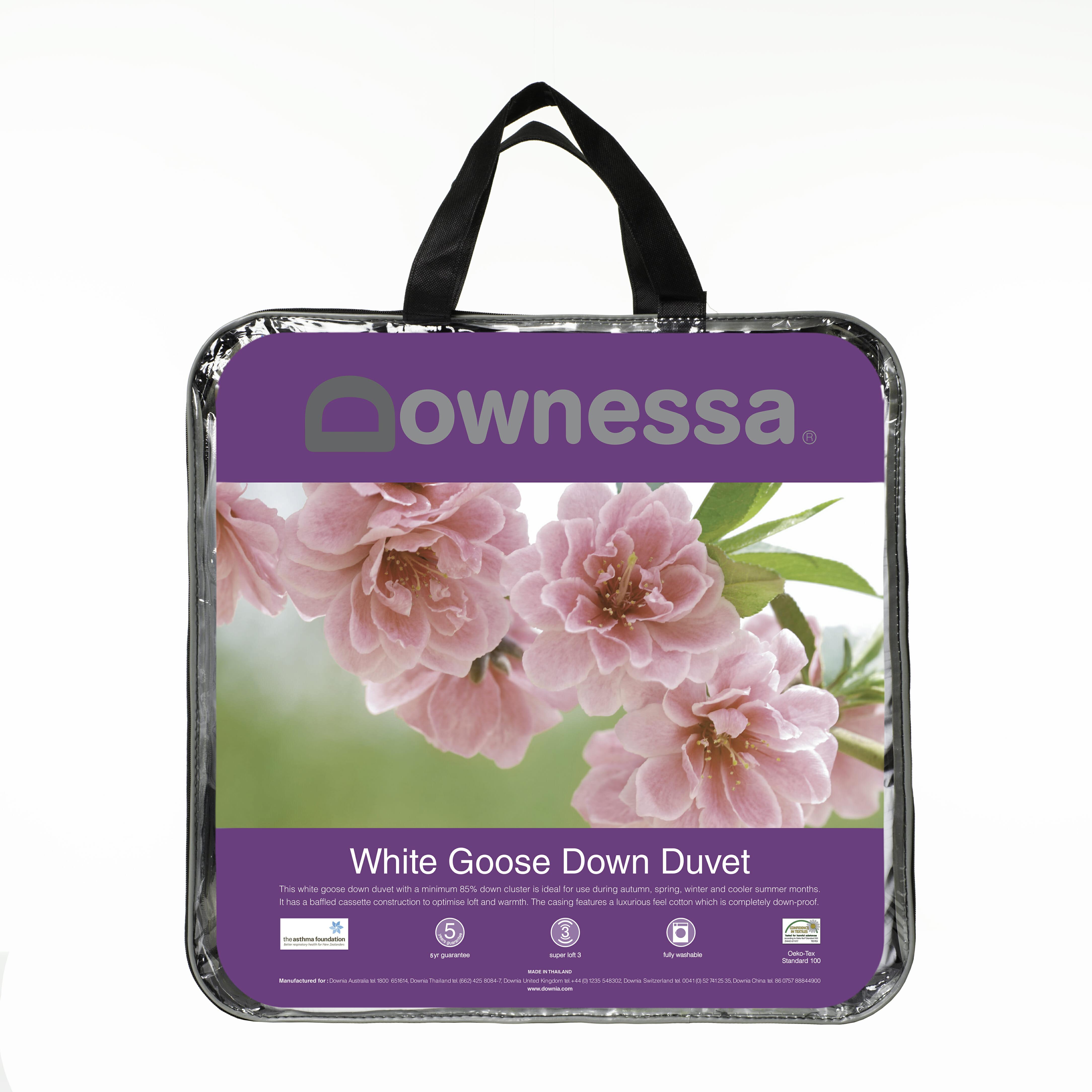 Downessa 85 White Goose Down Duvet Downia