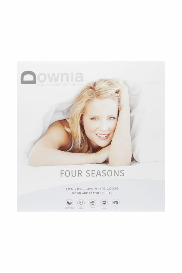 white goose down & feather duvet
