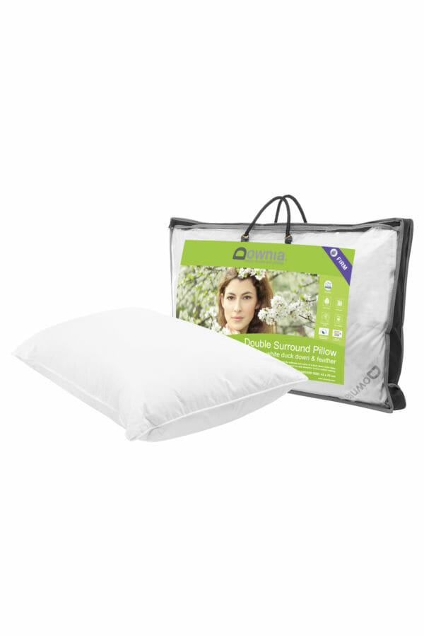 white duck down & feather pillow